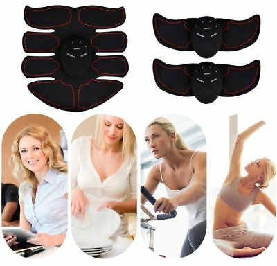 Smart EMS ABS Hips Trainer Muscle Toner Belt Abdominal Body Slimming Fat Burner