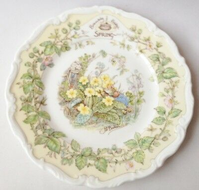 Brambly Hedge Spring Tea Plate 6 inch - 1st Quality - Royal Doulton