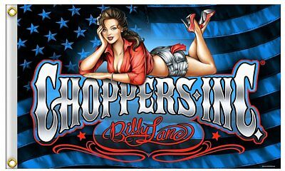 Choppers Inc Rocker Bomb Shell Stars and Stripes MC Clubhaus Pin up Girl DW0609