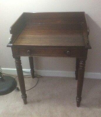 Victorian Mahogony Desk Hall Side Table Writing Desk Ladies Excellent