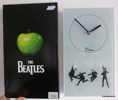 BEATLES Glass Wall Clock - Official Apple Corps Licensed Product By Coalport