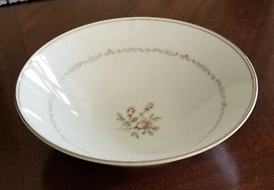 "Noritake China Mayfair Platinum Trim 8"" Round Vegetable Bowl"