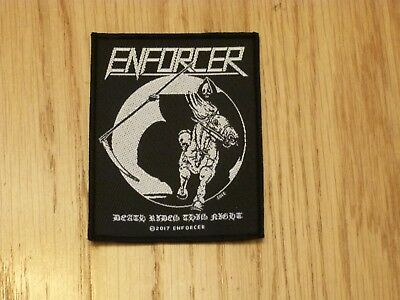 Enforcer - Death Rides (New) Sew On Patch Official Band Merchandise