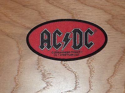 Acdc - Oval Logo (New) Sew On Patch Official Band Merchandise