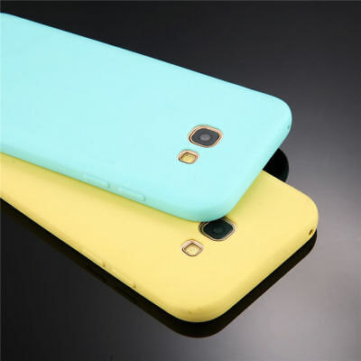 For Samsung A3 A5 A7 A8 2018 J3 J5 J7 Thin Candy Case Soft Rubber Silicone Cover