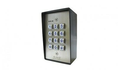 Keypad For Gates, Barriers And Access Control. External Rated 12/24v Ac/dc