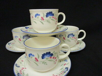 Royal Doulton Expressions WINDERMERE Tea cups &  saucers x 4