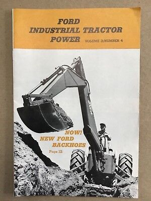 1959 Ford Industrial Tractor Power Vol 3 #4 Dealer Catalog Magazine