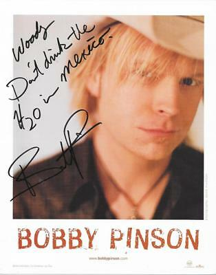 Bobby Pinson Signed Country Music Star Signed 8X10 Photo Autographed