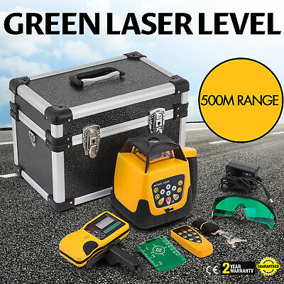 Rotary Laser Level Green Beam 500m Range 360° Spinning Water-Proof Automatic