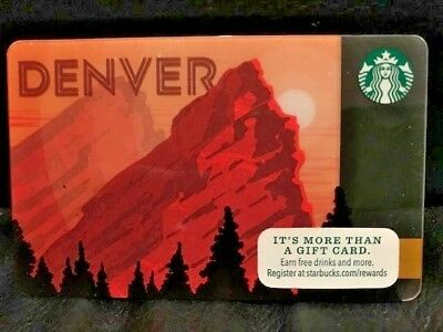 NEW Starbucks DENVER City card 2015, never swiped pins intact
