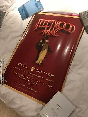 Fleetwood Mac 50 Years Don't Stop Record Store Poster Aporox 30x20 Inch Unused