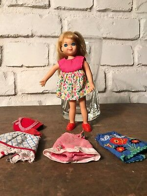 Vintage Tutti Blonde Doll - Original Outfits- Unplayed condition. Barbie Sister