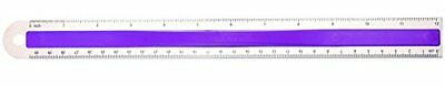 "NEW Westcott Aluminum Ruler with Finger Grip, 12"", Color Varies (15531) TAXFREE"