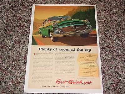 1956 Buick ads from vintage magazine