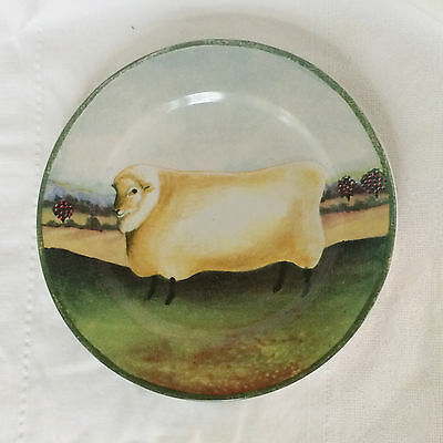 """Country Farm 8"""" Stoneware Plate with Sheep by Gear for Block 1995"""