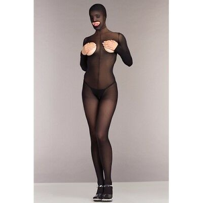 Be Wicked Ouvert Catsuit ohne Cups mit Kapuze Erotik Sexy Dessous Ouvert