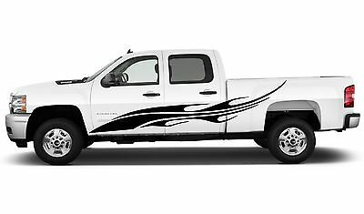 Tribal Flame Vehicle Decal Car Truck Boat Graphics Set Single Color 25-43