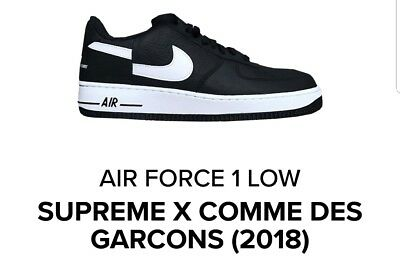 50a0d4ff862898 Supreme x Nike Air Force 1 Low Comme des Garcons Deadstock Size 10.5  CONFIRMED