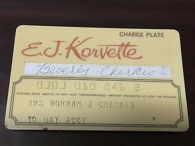 Vintage E.J. Korvette Credit Card
