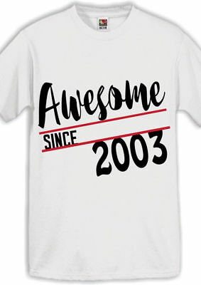 Awesome 2003 15th Birthday Gifts Present Gift Ideas T Shirt For 15 Year Old Boys