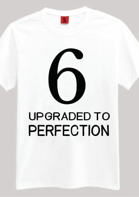 6 AGED PERFECTION T SHIRT 6TH BIRTHDAY GIFTS PRESENTS FOR YEAR