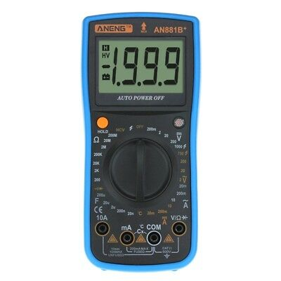 ANENG AN881B+ Digital Multimeter Supports NCV AC DC Auto Meter Tester Tempr O7T3