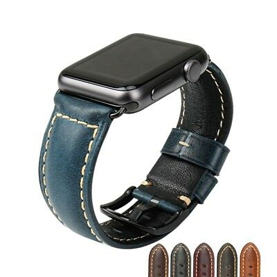 38/44mm Genuine Leather Band iWatch Series 4/3/2/1 For Apple Watch Wrist Strap