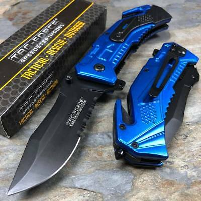 Tac Force Spring Assisted Knife Navy Rescue Outdoor Tactical Knife