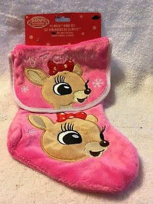 d238452064e Rudolph The Red Nosed Reindeer Clarice My 1st Christmas Bib and Stocking