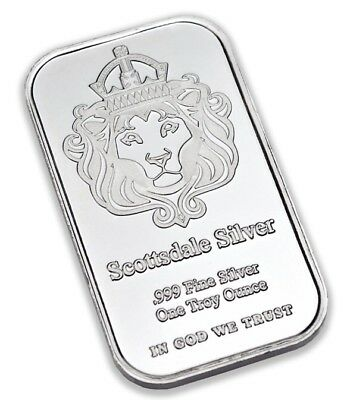 Scottsdale Silver 1 Troy Oz .999 Silver 'The One' Bar In Protective Capsule