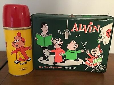 1963 Alvin Vinyl Lunchbox and Thermos