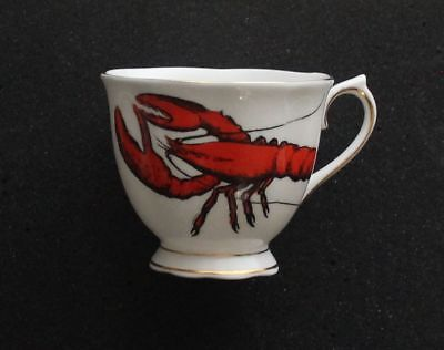 """Royal Albert Fine Bone China Tea Cup and Saucer """"The Lobster"""""""