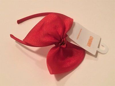 New Gymboree Outlet Coral Rosette Ribbon Barrette Clip Hair Accessory NWT