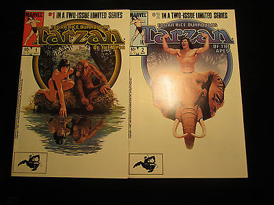 Tarzan of the Apes #1 & #2 Set (1984, Marvel) VF Limited Series Edgar Burroughs