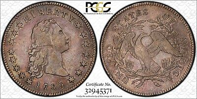 1795 $1 Early Dollar Flowing Hair 3 leaves -  VF25 PCGS PQ!