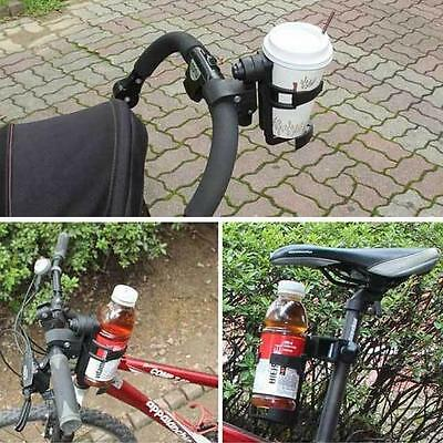 Useful Milk Bottle Cup Holder for Stroller Pushchair Buggy Pram Bicycle Bike Aid