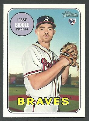 2018 Topps Heritage High Number Jesse Biddle #577 ROOKIE - Braves
