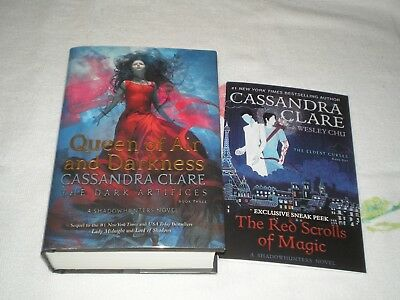 QUEEN OF AIR AND DARKNESS by CASSANDRA CLARE   *SIGNED*