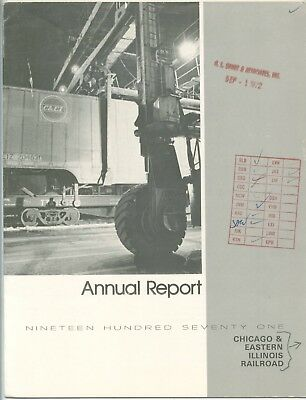 Chicago & Eastern Ilinois Railroad Annual Report 1971 with 24 pages