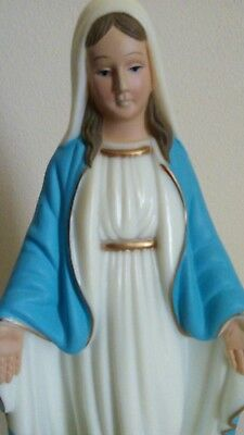VINTAGE Religious Statue Mary SNAKE around her FEET.  VERY Good CONDITION.