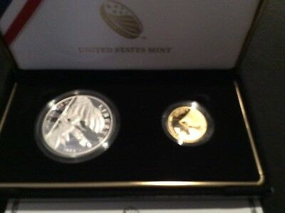 2012 US Mint Star-Spangled Banner Commemorative Proof two coin set