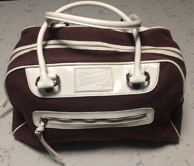 Converse One Star Circa 74 New York Boston Large Purse Canvas Bag Maroon White