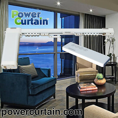 PowerCurtain S168-A 6ft to 9ft Single Straight Motorized Curtain Track System