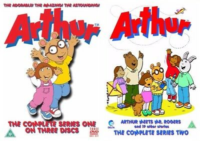 Arthur Complete Season 1 + 2 Collection Includes All 80 Episodes New 7 Dvd R4