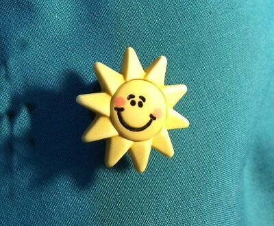 Cute Smiley Smiling SUN Sunshine Holey Clog Shoe PIN Charms Charm