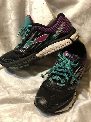 1d585c7910fb BROOKS GHOST 9 Womens Athletic Running Shoes Black Purple Fitness US ...