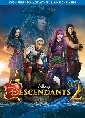 Descendants 2 (2017 DVD) With Slip Case + Necklace With 5 Villain Icons Inside