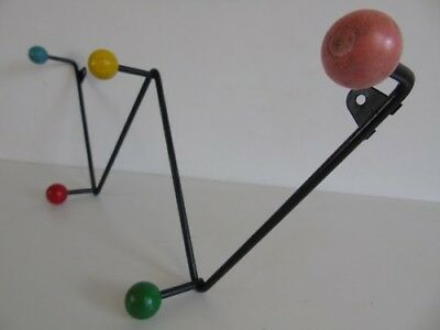 Original Atomic Zig Zag Coat Hook modernist retro 1960s rack