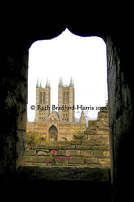 Gothic Ogee Arch Silhouette Lincoln Minster Art Photograph, Mounted Print, Cards